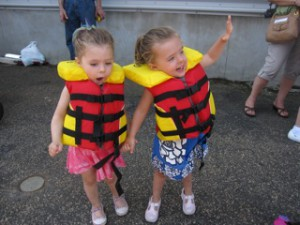 Twins Josie and Bea loved their boat trip.