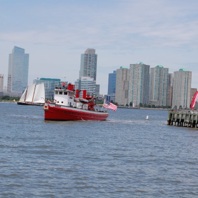 Fireboat John J Harvey Coming Around the Pier, 2014, Photo by Paul Demonte
