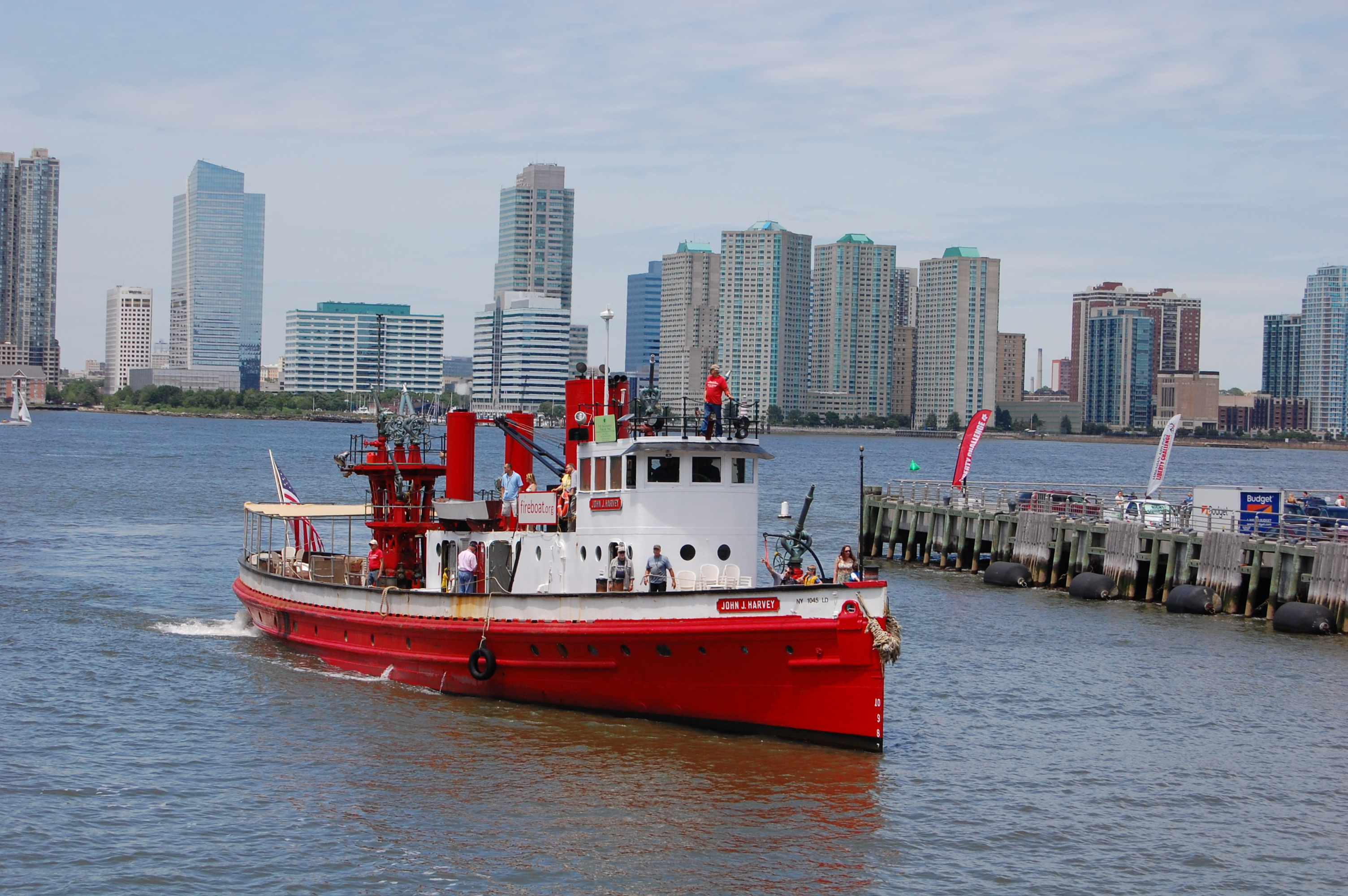 Fireboat John J Harvey Coming Closer to Dock, 2014, Photo by Paul Demonte