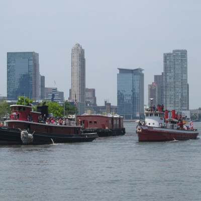 Multiple Vessels at Pier 25, 2014